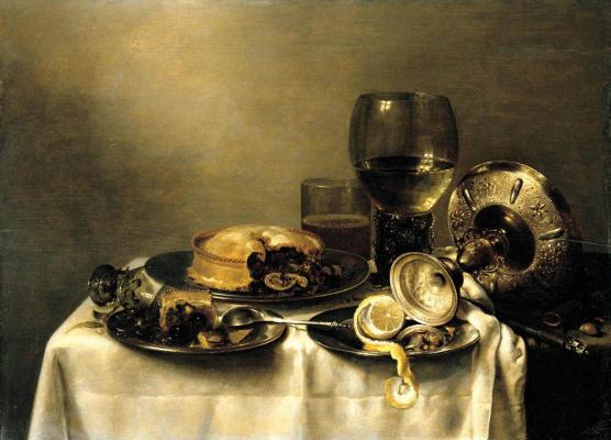 Willem Claesz Heda. Still life with broken glass