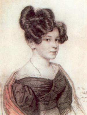 Orest Adamovich Kiprensky. Portrait of Anna Alekseevny Olenina
