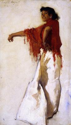 John Singer Sargent. Spanish Gypsy dancer