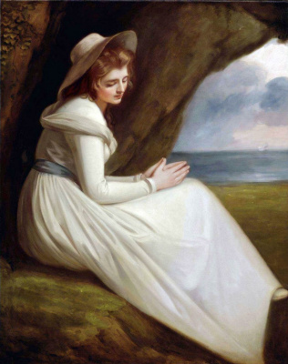 George Romney. Lady Hamilton as Ariadna