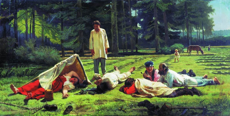 Firs Sergeevich Zhuravlev. Rest on haymaking. Vologda State Historical-Architectural and Art Museum-Reserve