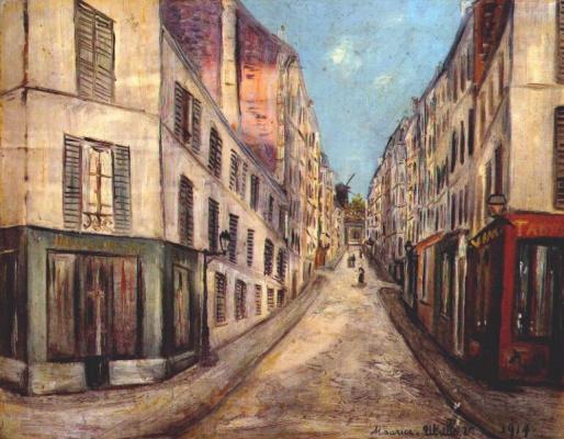 Морис Утрилло. Улица в Париже