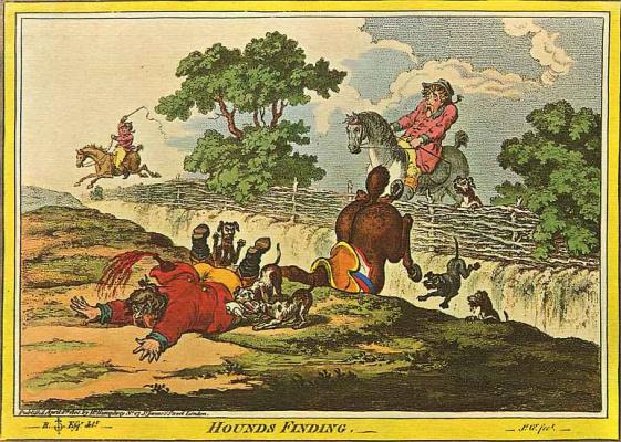 Джеймс Гилрей. Сцена на охоте