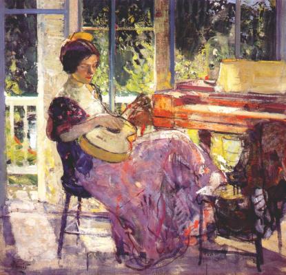 Ричард Эдвард Миллер. Девушка с гитарой