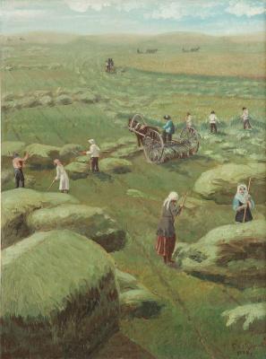 Abylkhan Kasteevich Kasteev. Haymaking