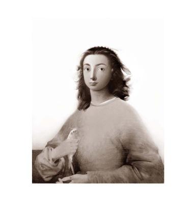 Sergey Konstantinov. Girl with bird