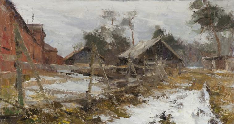 Alexander Evgenievich Kosnichev. Konyushennyi yard on Valaam