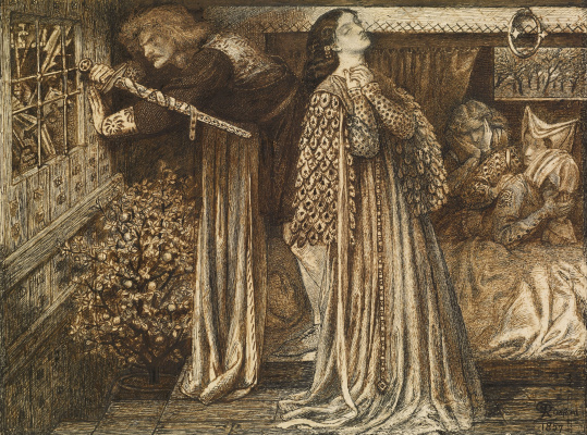 Dante Gabriel Rossetti. Sir Lancelot in the Royal chamber