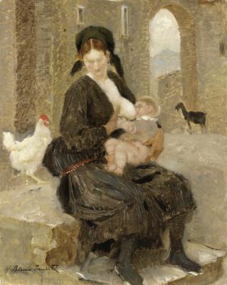 Алексей Владимирович Исупов. Мать в Сканно.  1929
