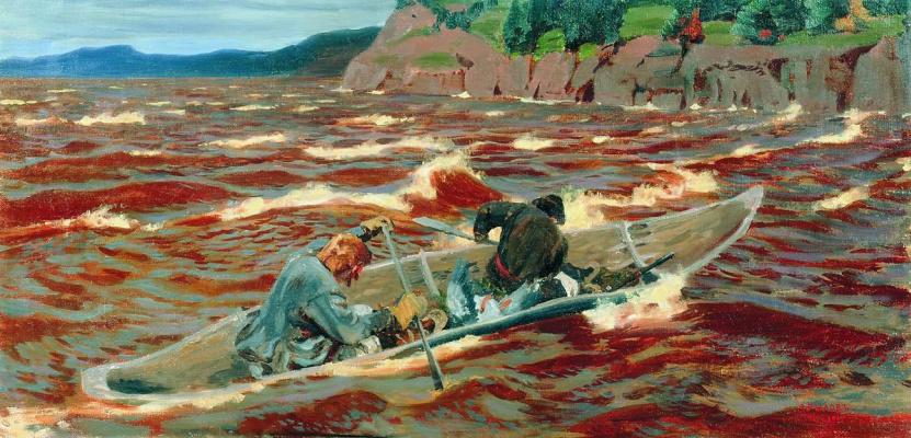 Аркадий Александрович Рылов. В лодке. Смельчаки
