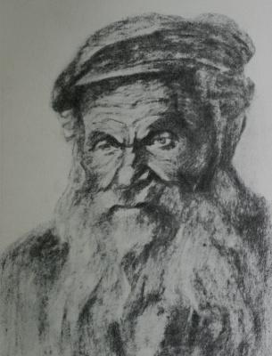 """Anatoly Kaplan L.. """"Balagula"""" 1935 coal"""