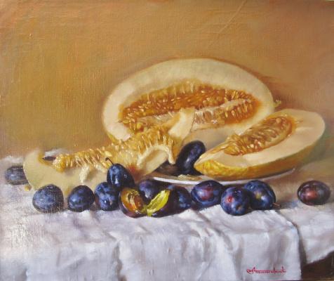 Andrey Bashirov. Melon and plum.