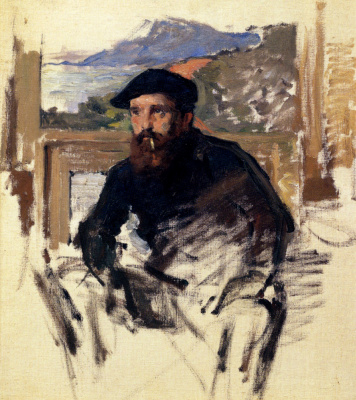 Claude Monet. Self-portrait in his Studio