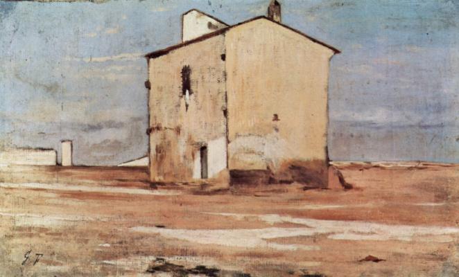 Giovanni Fattori. Knacker's yard in Livorno