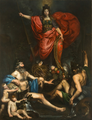 Valentine de Boulogne. Allegory Of Italy