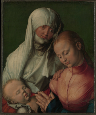Albrecht Durer. Maria with child and St. Anna