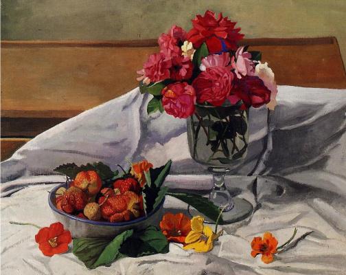 Felix Vallotton. Flowers and strawberries