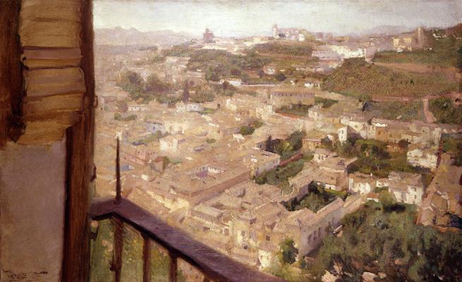 Хосе Мария Лопес Мескита. Вид на Альбайсин