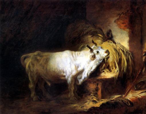 Jean Honore Fragonard. White bull