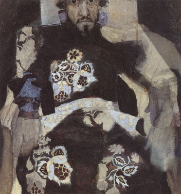 Mikhail Vrubel. Portrait of a man in an old suit ( I. N. Tereshchenko)