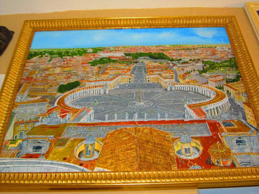 Eduard Поникаров. Vatican, view from the dome of the Cathedral of St. Peter