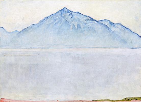Ferdinand Hodler. Lake Thun and mount Niesen