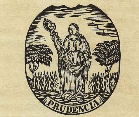 Ксилограф из печатни Эстивиль в Барселоне. Пруденция
