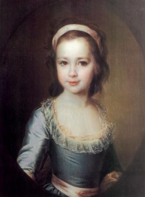 Dmitry Grigorievich Levitsky. Portrait of Anna Artemievna Vorontsova in childhood