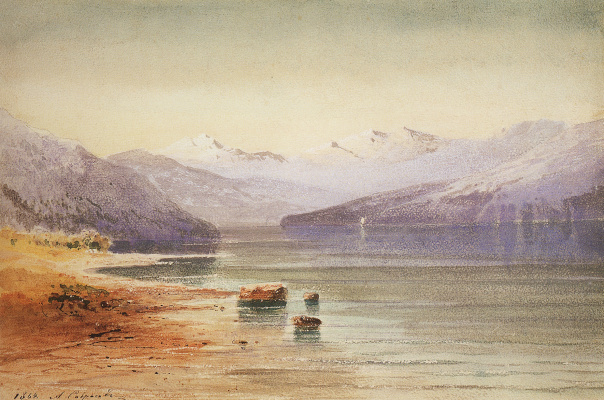 Alexey The Kondratyevich Savrasov. Mountain lake. Switzerland