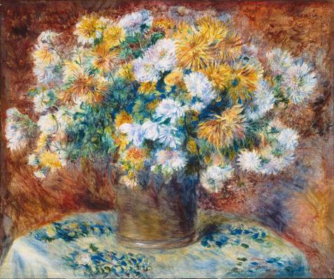 Pierre Auguste Renoir. Chrysanthemum