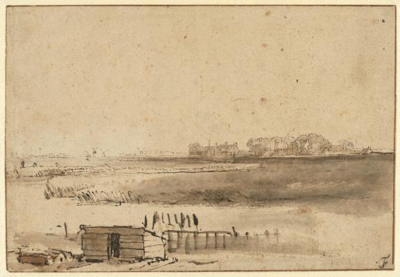 Вид Хьютеваля возле Синт-Антонисфорта