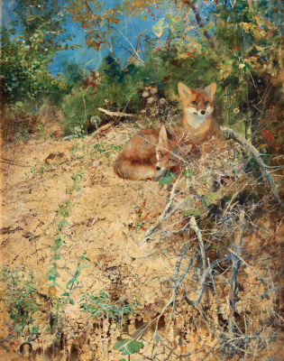 Bruno Liljefors. Fox