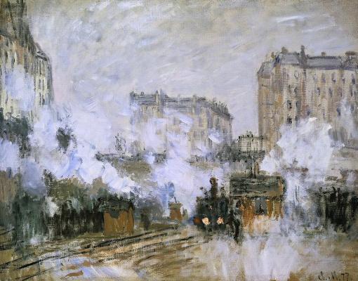 Клод Моне. Внешний вид вокзала Сен-Лазар, прибытие поезда