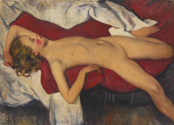 Zinaida Serebryakova. Sleeping girl