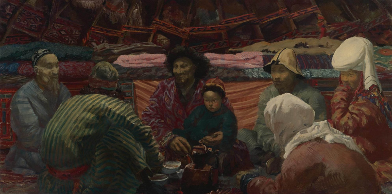 Alexander Yakovlev. Under the tent of the Kirghiz. 1932