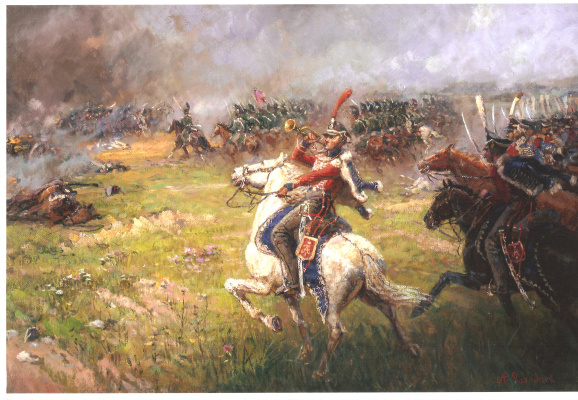 Aleksandr Chagadaev. Hussar Izyum Regiment at Borodino
