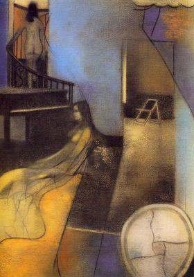 Рональд Китадж. Женщина на лестнице