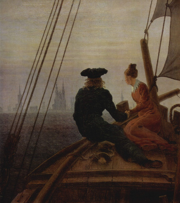 Caspar David Friedrich. On the sailboat. Detail