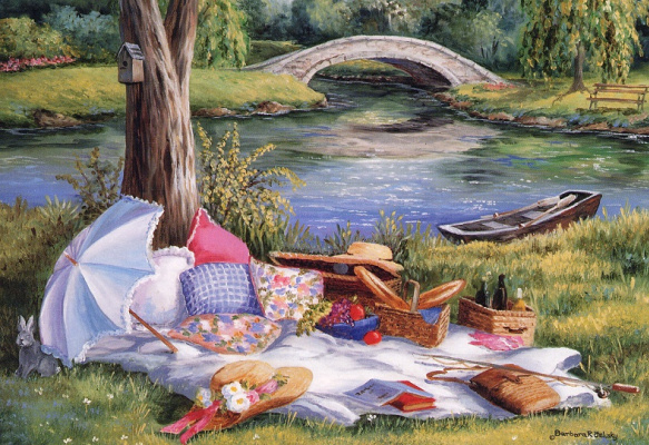 Barbara Feliski. Picnic on the bridge
