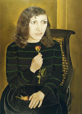 Lucien Freud. Girl with roses