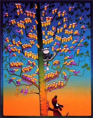 Мордилло. Кот на дереве