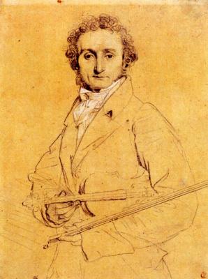 Jean Auguste Dominique Ingres. Niccolo Paganini