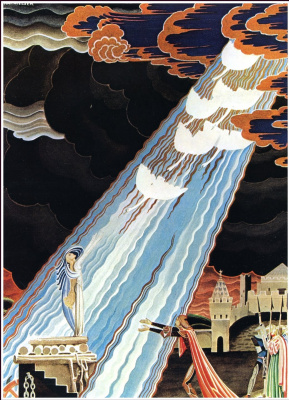 """Kay Nielsen. Illustration to the fairy tale """"Six swans"""" by the brothers Grimm"""