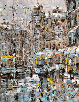 Dmitry Alexandrovich Kustanovich. Sleet in petersburg