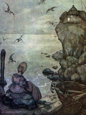 Антон Пик. На берегу моря. Иллюстрация к композиции Шуберта