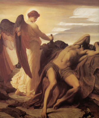 Frederic Leighton. Elijah in the desert