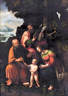 Jan Giacomo Caprotti da Oreno (Salaí). The Virgin and Child with SS. Peter and Paul