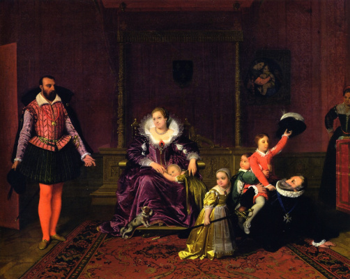 Jean Auguste Dominique Ingres. Henri IV Playing with His Children