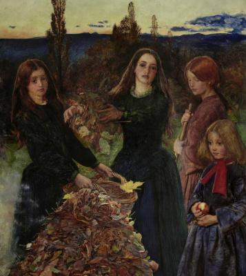 Джон Эверетт Милле. Осенние листья. Фрагмент