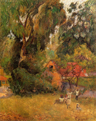 Paul Gauguin. Huts under the Trees